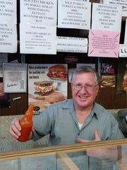 Stan Zawatski at the deli counter.