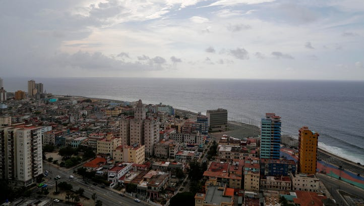 This coastal view of Havana, Cuba, shows the United