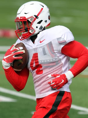 Rutgers wide receiver Leonte Carroo has nine touchdown catches in four games this season but is questionable with an ankle injury this week against Ohio State.