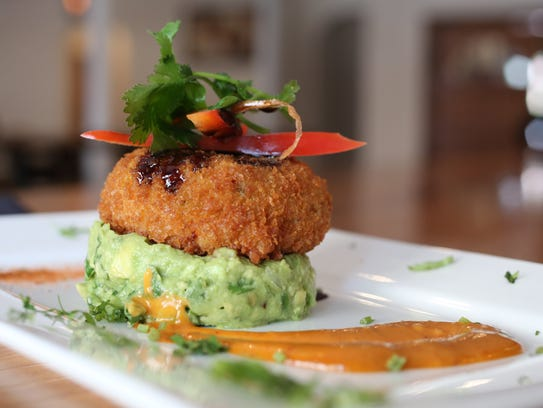 The Crab Cake at La Casona, a new Mexican Fusion restaurant