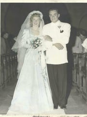 The wedding photo of Victor Hills Golf Club's co-founders, Jack and Audrey Dianetti.