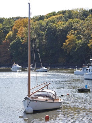 A sailboat at the Milton Yacht Club on the Neponset River in Milton on Tuesday, Oct. 6, 2020. Greg Derr/The Patriot Ledger