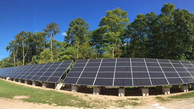 A section of the solar array at Waseda Farms, in Baileys Harbor.