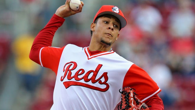 Reds pitcher Luis Castillo had a 3-7 record in 2017, but with a 3.12 ERA and 1.07 WHIP.