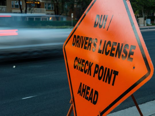 DUI and driver license checkpoint