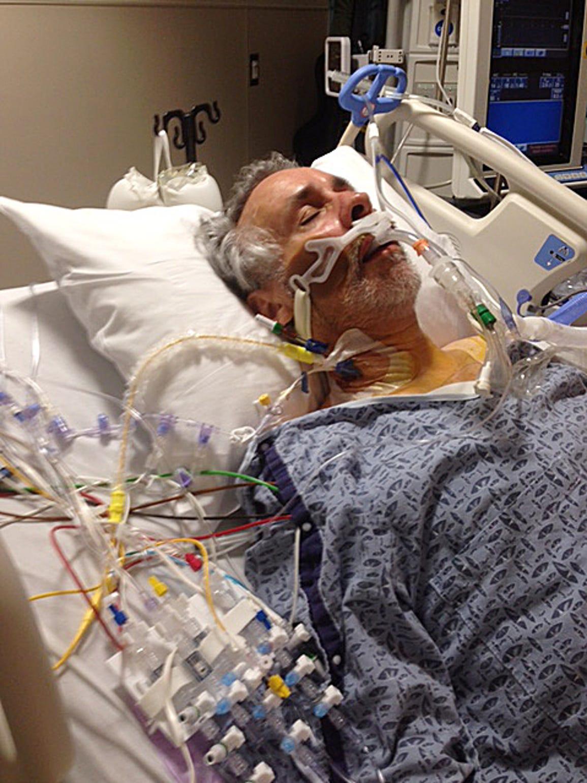 Retired restaurateur Rudy Caduff received a lung transplant