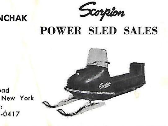 John Stanchak sold Scorpion snowmobiles.