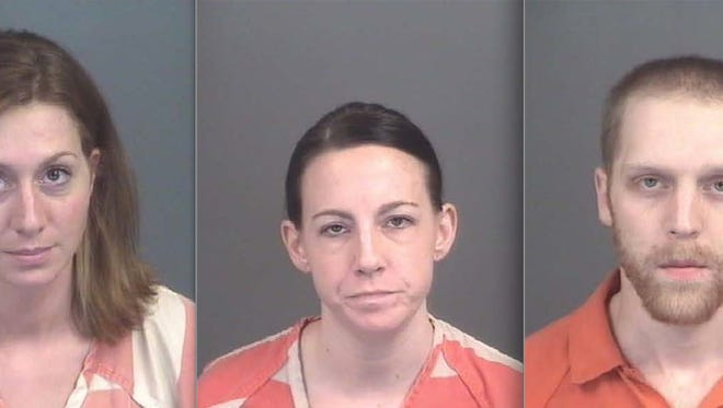 From left: Amanda Cogburn, Carrin Washburn and Bryce Nelson