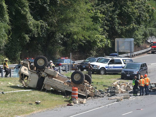 1 dead, 2 hurt in I-95 military vehicle crash in Rye