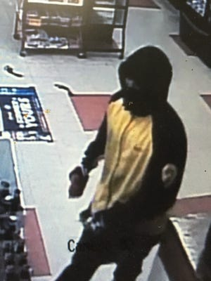 Police seek a suspect they say attempted to rob Quality Beverage on Maple Avenue in Elmira on Tuesday night.