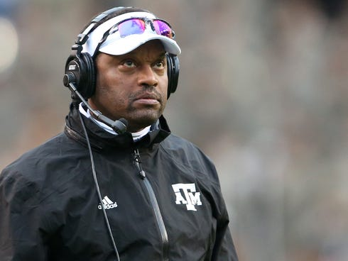 Texas A&M coach Kevin Sumlin is becoming college football's third $5 million per year coach after signing a new contract with the Aggies.