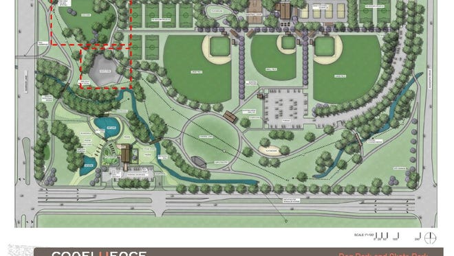 A master plan of Centennial Park in Waukee makes room for a dog park in the northwest corner near the intersection of Park Road and Warrior Lane. Confluence worked with city staff to create a master plan for use when funding becomes available.