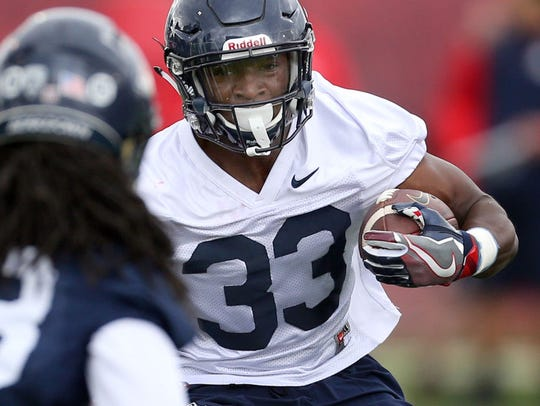 Arizona coaches have praised freshman running back