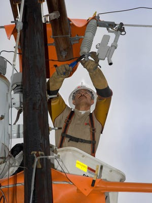 Duke Energy crews are working to restore power in Colerain Township