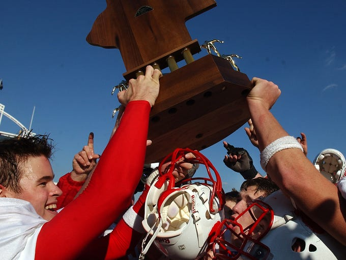 Beechwood players celebrate their state title at the