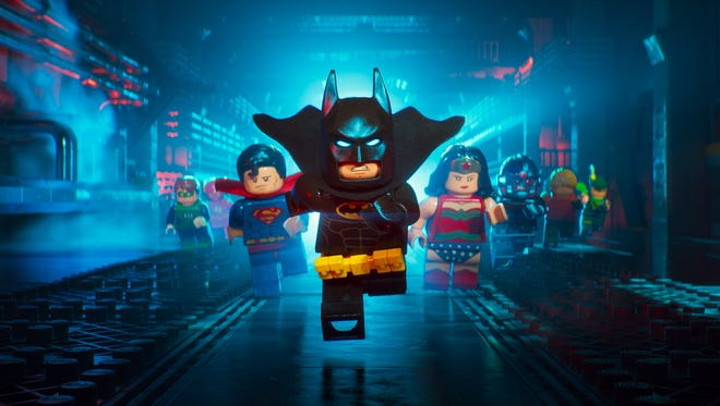 """Batman and members of the Justice League are ready for action in """"The LEGO Batman Movie."""""""
