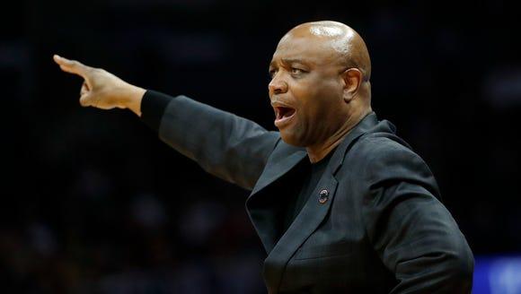Florida State coach Leonard Hamilton gestures during