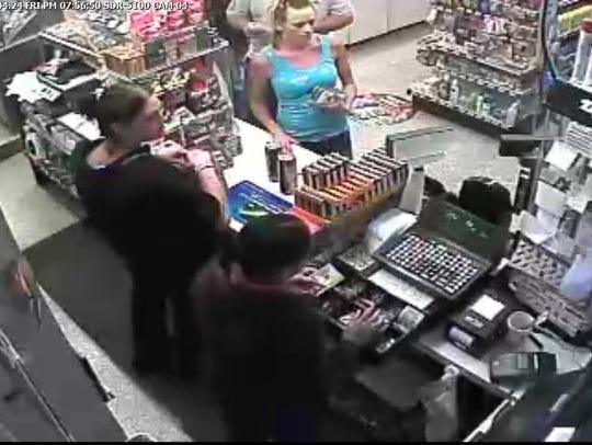 A surveillance tape at the BP gas station in Waynesboro