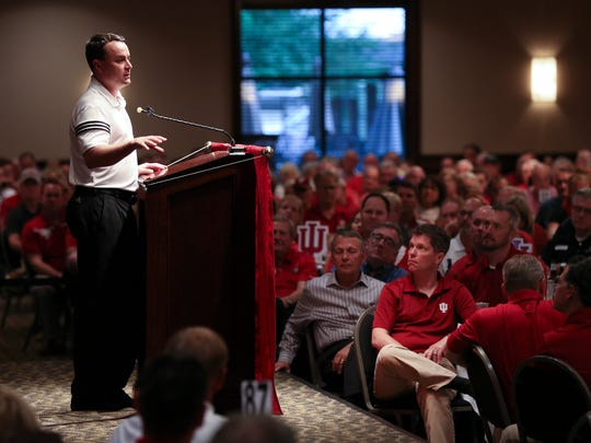 IU Head Basketball Coach Archie Miller spoke to several