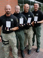 Several Marion County deputies received the Medal of Valor Tuesday.