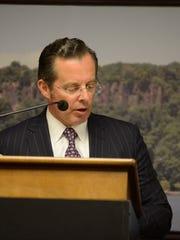 Mayor Mario Kranjac spoke to the borough at the reorganization