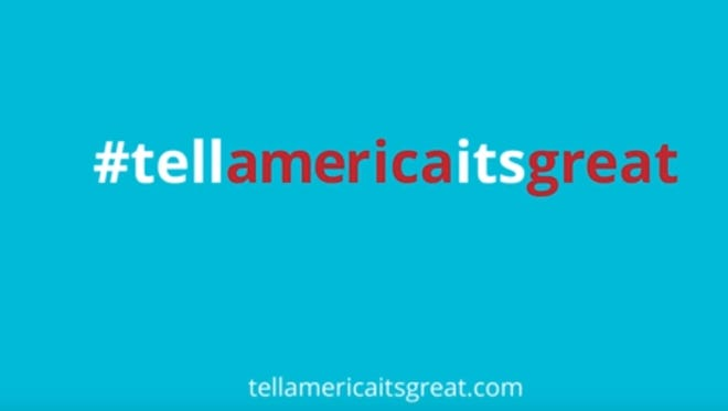 The Tell America It's Great campaign includes Twitter submissions from people across Canada.