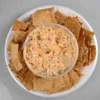 The pimento cheese plate at Homegrown. Asheville restaurants are brimming with ways to eat the Southern spread.