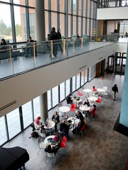 The main lobby of the College Instruction Center on