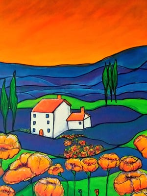 """Tuscan Poppies"" by Deana Hicks"