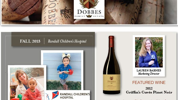 Dobbes Family Estate has named Randall Children's Hospital as its charitable giving partner for the 4th quarter.