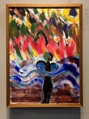 A mixed media work by Emoke B'Racz.