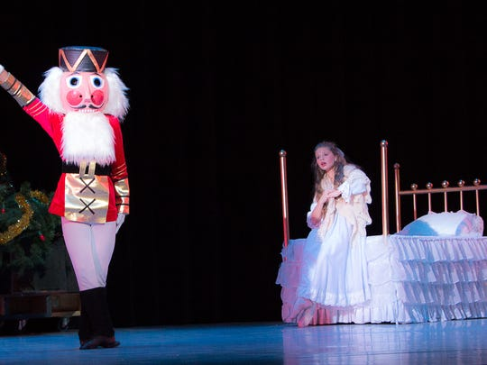 """This year's """"The Nutcracker"""" will feature a cast of 96, including bon-bons, mice, angels, dolls, Clara, The Snow Queen and King, and The Nutcracker. Lauren Stegemann will dance the role of Clara."""