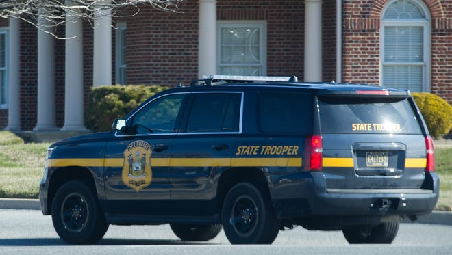 A Delaware State Police vehicle in Dover.