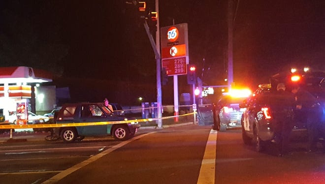 Redding police investigate a fatal shooting Feb. 15 at Hartnell Avenue and Churn Creek Road where a driver said he shot and killed a bicyclist in self-defense.