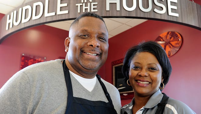 Donald and Kim Lloyd are owners of the only Huddle House restaurant in Jackson.