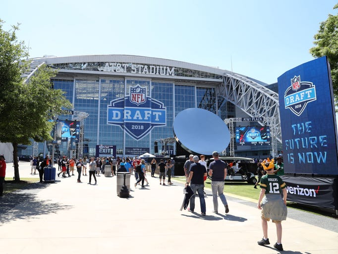 General view of AT&T Stadium prior to the first round