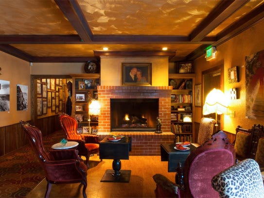 The lounge at Adele's in Carson City features a painting