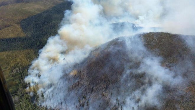 Fire currently burning in the Rogue River-Siskiyou National Forest.