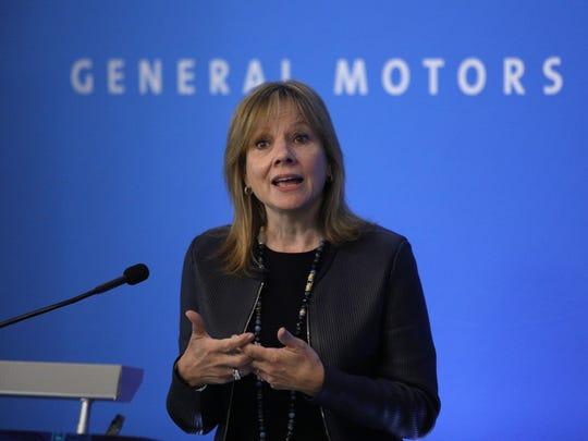 General Motors Co. CEO Mary Barra