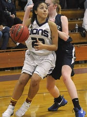 Yerington's Jayla Tolliver eyes a shot.