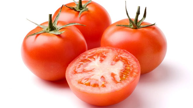 Ripe red tomatoes are finding their way at farmers markets.