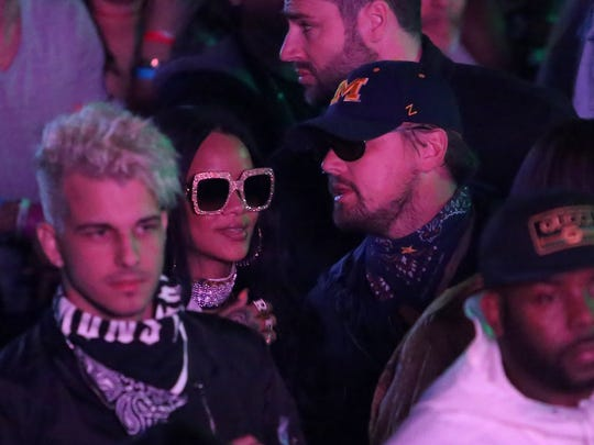 THERMAL, CA - APRIL 16:  Singer Rihanna and actor Leonardo DiCaprio attend the Levi's Brand And RE/DONE Levi's Present NEON CARNIVAL With Tequila Don Julio on April 16, 2016 in Thermal, California.  (Photo by Jesse Grant/Getty Images for Best Events)