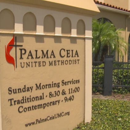 """My reaction was one of shock and I was stunned,"" said  Pastor Bruce Toms of Palma Ceia United Methodist Church."