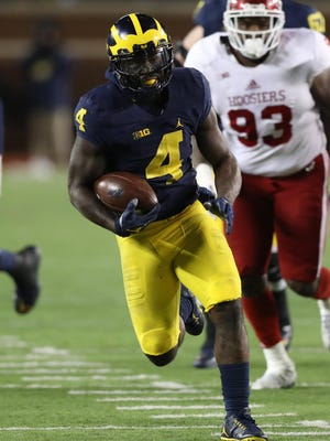De'Veon Smith sprints for the end zone against Indiana. Smith had two rushing touchdowns.
