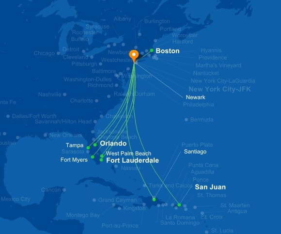JetBlue to try new Caribbean route from Newark