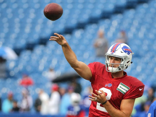 Bills rookie quarterback Nathan Peterman could play
