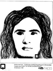 Police sketch of the female suspect.