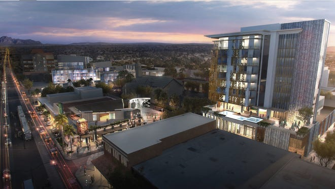 Habitat Metro — known for Portland Place Condominiums, Portland on the Park and the recently openedFOUND:RE boutique hotel— wants to bring a 14- or 15-story hotel and apartment complex across the street from the Mesa Arts Center.