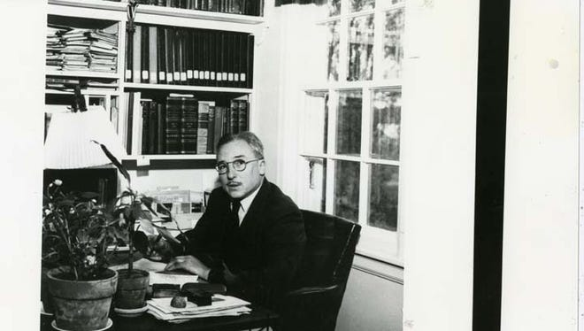 Glanville Smith was known as a Renaissance man, with knowledge of architecture and culture that he captured in his career and his writing. He is shown in his Cold Spring office in about 1950.