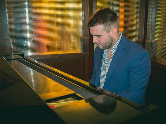 Hunter DeBlanc plays piano Wednesday evenings at Charley